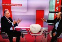 "Gosti prve debate ""Borba za Beograd"" na Prvoj televiziji bili su predsjednik Stranke pravde i pomirenja dr. Muamer Zukorlić i predsjednik Srpske radikalne stranke dr. Vojislav Šešelj"